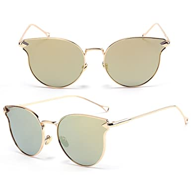 c6dc053bef Image Unavailable. Image not available for. Color  NNDA CO Fashion Women s  Gold Retro Cat Eye Sunglasses Classic Oversized Vintage