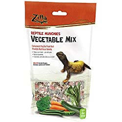 Zilla Reptile Food Munchies Vegetable Mix, 4-Ounce