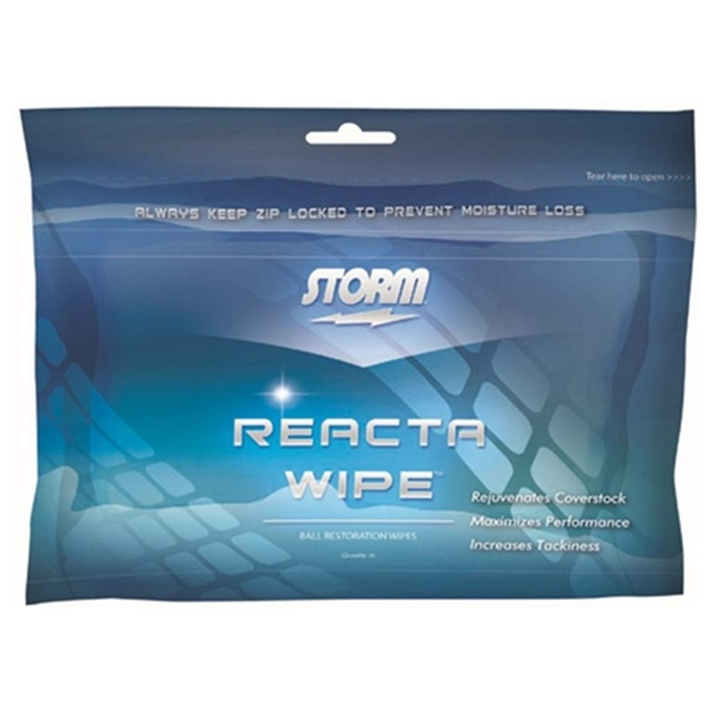 Storm Reacta Wipe Bowling Ball Cleaner Wipes- Dozen by Storm Bowling Products
