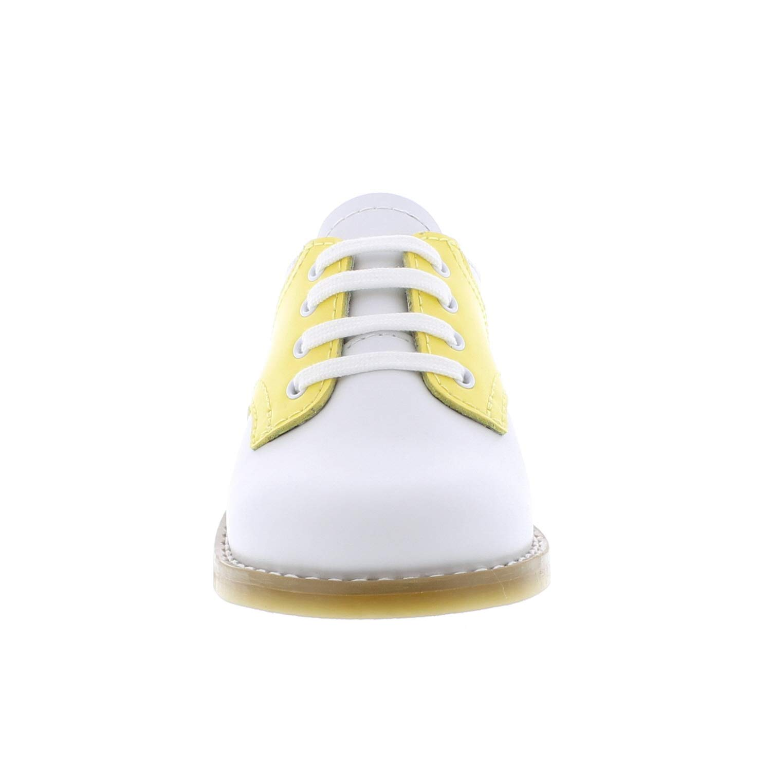 FOOTMATES Cheer Saddle White//Sunbeam 8411//6 Toddler M//W
