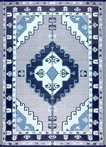 Well Woven Adela Floral Blue Grey Modern Area Rug 8×11 7 10 x 10 6 Soft Plush Brush Stroke Carpet