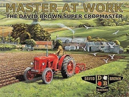 Master en el trabajo, el David Marrón Súper Cropmaster Rojo ...