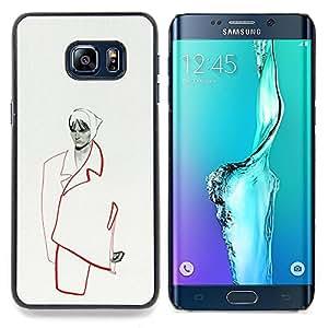 "For Samsung Galaxy S6 Edge Plus / S6 Edge+ G928 Case , Moda Minimalista Mujer Couture"" - Diseño Patrón Teléfono Caso Cubierta Case Bumper Duro Protección Case Cover Funda"