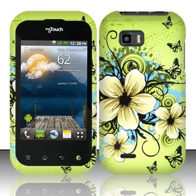 Hawaiian Flowers Hard Faceplate Cover Phone Case for LG Eclypse C800G ()