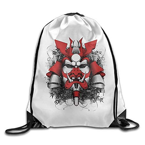 [Japanese Mask Samurai Designed Personality Backpack One Size] (Meaning Costume Design)