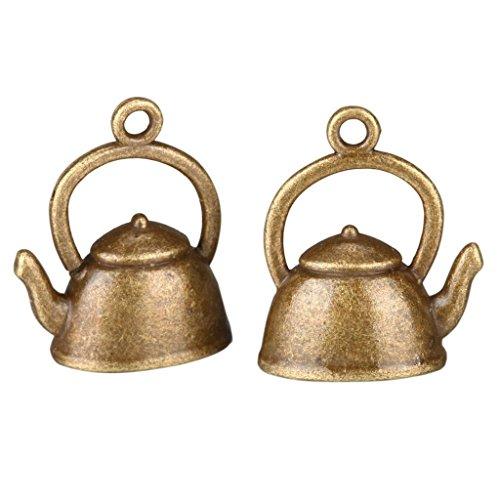 10 Teapot Charms 17x14mm Antique Bronze Tone for Bracelets Necklace Earrings #MCZ314