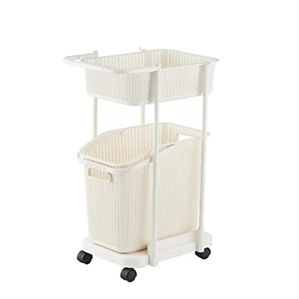 Z@SS Multi-Tier Basket Stand Kitchen Bathroom Material PP Rolling Storage Carrito Con