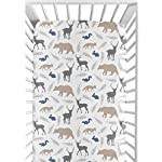 Sweet-Jojo-Designs-Fitted-Crib-Sheet-for-Woodland-Animals-BabyToddler-Bedding-Set-Collection-Animal-Print