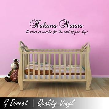 Amazoncom Hakuna Matata Alt Lion King Childrens Wall Sticker - Lion king nursery wall decals