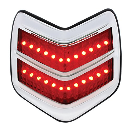 United Pacific FTL4005LED 1940 Ford LED Flush Mount Tail Light with Chrome (1940 Ford Parts)