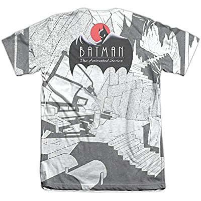 Batman The Animated Series Watchful Eyes Mens Sublimation Shirt White Xl