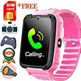 [Speedtalk SIM Included] Kid Phone Smart Watches for 3-14 Year Boys Girls Touch Screen SOS Camera Game Anti-Lost Sport Outdoor Digital Wrist Cellphone Watch Bracelet for Holiday School Birthday Gifts