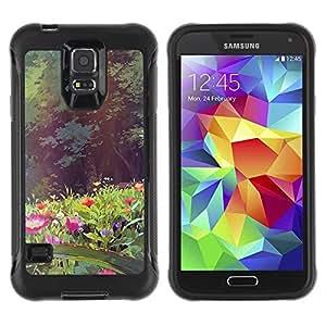 Pulsar iFace Series Tpu silicona Carcasa Funda Case para Samsung Galaxy S5 V , Fleurs Forêt Summer Sun