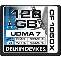 Delkin 128 GB CF 1050X UDMA 7 Cinema Memory Card (DDCF1050-128 GB)