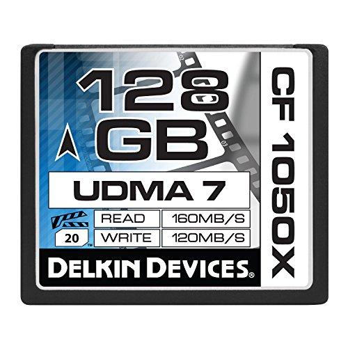 Delkin 128 GB CF 1050X UDMA 7 Cinema Memory Card (DDCF1050-128 GB) - Delkin Compactflash Card