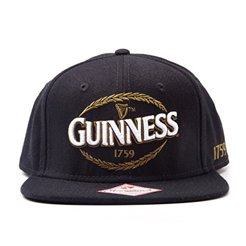 Guinness Baseball (Guinness Snapback Baseball Cap with Embroidered Logo ( Black))