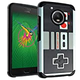 Moto G5 Case, DURARMOR Moto E4 NES Game Controller Dual Layer Hybrid ShockProof Ultra Slim Fit Armor Air Cushion Defender Protector Cover for Moto E4 / G5 NES
