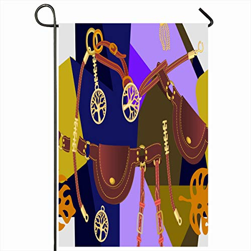 Ahawoso Outdoor Garden Flag 12x18 Inches Artsy Abstract Bauble Strap Bracelet Chain Cord Spanish Home Decor Seasonal Double Sides House Yard Sign - Cape Pendant Cod Outdoor