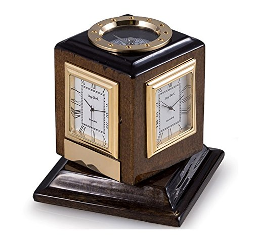 Desk Clocks - Multiple Time Zone Revolving Desk Clock With - Kensington Clock Table