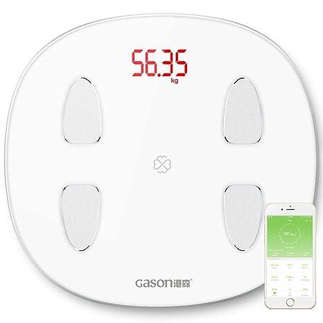 Báscula baño digital, Bluetooth Balanza Digital baño peso balanza de grasa corporal con iOS y