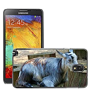 Etui Housse Coque de Protection Cover Rigide pour // M00108737 Cabras Gris Animales Mamíferos // Samsung Galaxy Note 3 III N9000 N9002 N9005