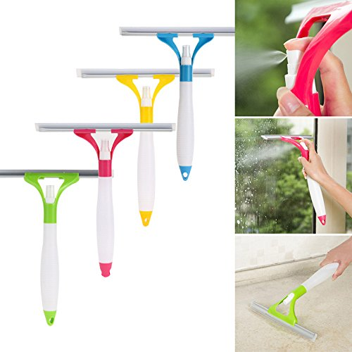 Spray Type Cleaning Brush Glass Wiper Window Clean Shave Car Window Cleaner Good Quality (Color sent random) - Eyeglass Film Tint