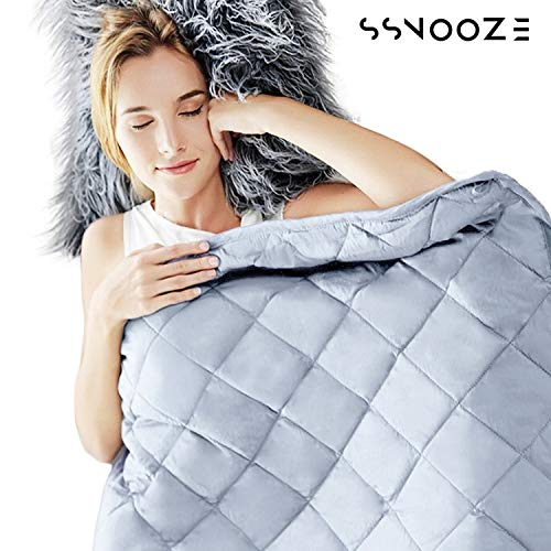 sSnooze Weighted Blanket 15 lbs 2019 - Weighted Blanket for Kids - Weighted Blanket for Adults - Heavy Blanket - Blanket with Premium Quality Can Help Fall Asleep Faster - Best Relaxation Gifts