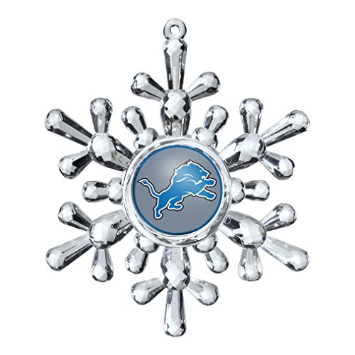 NFL Detroit Lions Snowflake Ornament