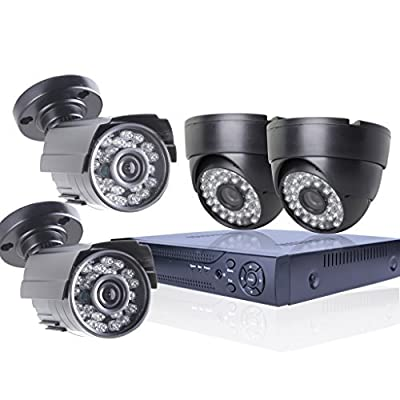 SW Security CCTV 4CH 1200TVL Camera DVR System 1200TVL 2 Indoor Dome 2 buttle outdoor Surveillance Camera System ¡­