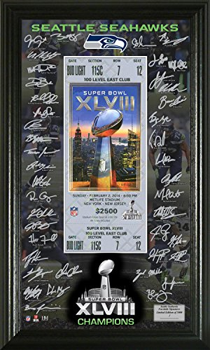 super bowl ticket picture frame - 8