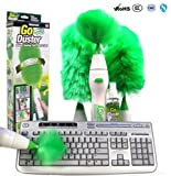 Multifunctional Electric Rotatable Duster Set Motorized Cleaning Brush Green Feather Dusters for Blinds Furniture Keyboard