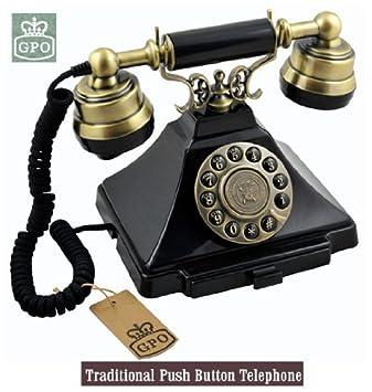 Ornate Vintage Style Old Fashioned Telephone Black Amazoncouk