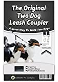 Caldwells Pet Supply Co. No Tangle Dog Leash Coupler, Double Dog Walker - Trainer Leash - Two Dogs Adjustable Splitter Lead 1 X 16-24 Inches