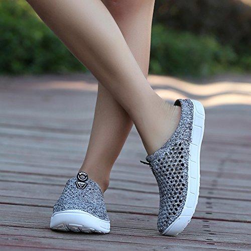 Shower Footwear Shoes Clog Shoes Slip Garden Beach WLLH Women Breathable Slippers Anti Walking Mesh Water Sandals Summer Gray nwzSqgp