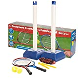 Kids Outdoor Garden Tennis Set With Net Stand 2 Rackets Balls Game Toy Training