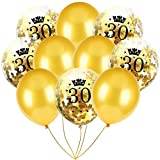 Inkach- Confetti Balloons, 10pcs 12'' Latex Party Balloons for Baby Shower Birthday Decor (E)