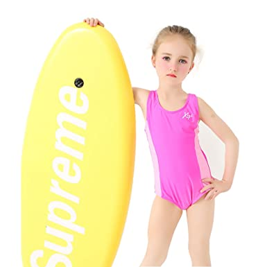 5300cf98fe40f Aomige Girls One Piece Swimsuits Swimwear For 6-11 Years Old Kids - Pink -