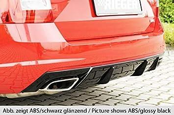 Rieger Trasero Uso Aspecto de Carbono para Skoda Octavia RS (5E) (Modelos Gasolina