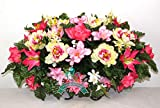 small flower arrangements Beautiful XL Spring Peonies and Lilies Cemetery Saddle Flower Arrangement