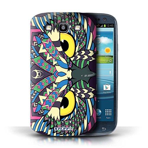 Etui / Coque pour Samsung Galaxy S3/SIII / Hibou-Couleur conception / Collection de Motif Animaux Aztec