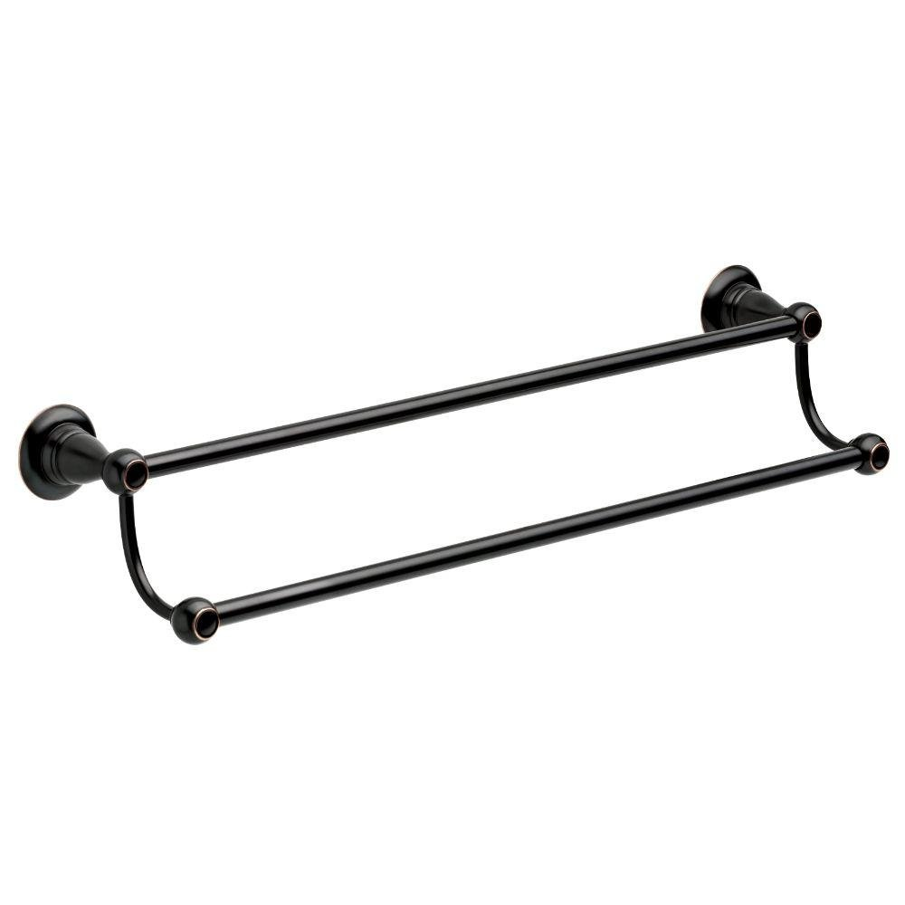 Porter 24 in. Double Towel Bar in Oil Rubbed Bronze - - Amazon.com