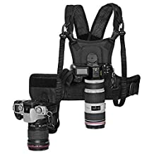 Fomito Micnova Multi Double Camera Dual Carrying Photographer Vest with Side Holster for Canon Nikon DSLR MICNOVA MQ-MSP01 MP1000