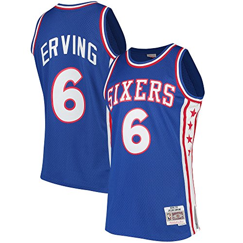 (Mitchell & Ness Julius Erving Philadelphia 76ers Swingman Jersey Blue (Large))