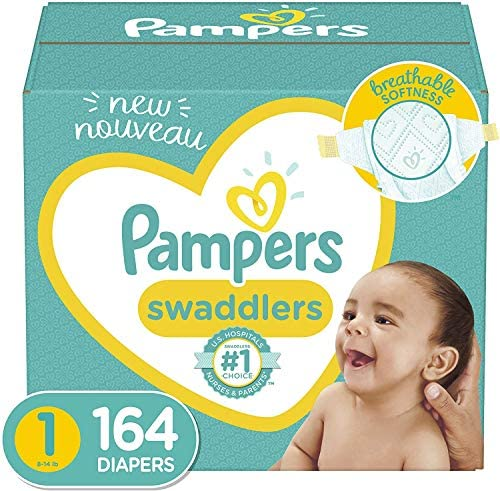 Diapers Newborn/Size 1 (8-14 lb), 164 Count – Pampers Swaddlers Disposable Baby Diapers, Enormous Pack
