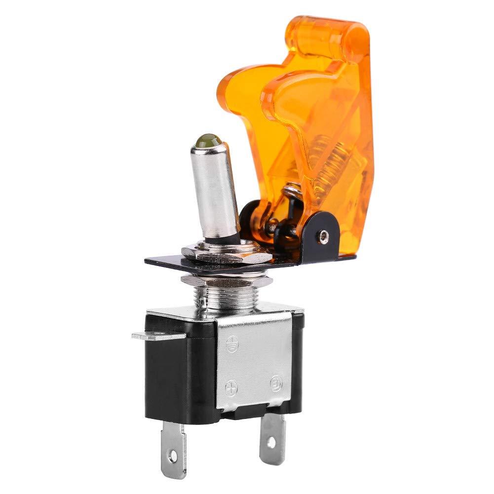 Interruptor basculante basculante 12V 20A Luz auto auto LED Interruptor basculante SPST Control encendido//apagado Blanco