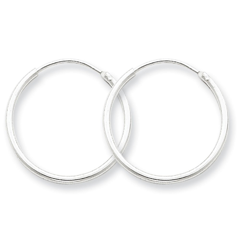Designs by Nathan Endless 925 Silver Seamless Tube Hoop Earrings 15 Styles and Sizes 1.3mm x 20mm