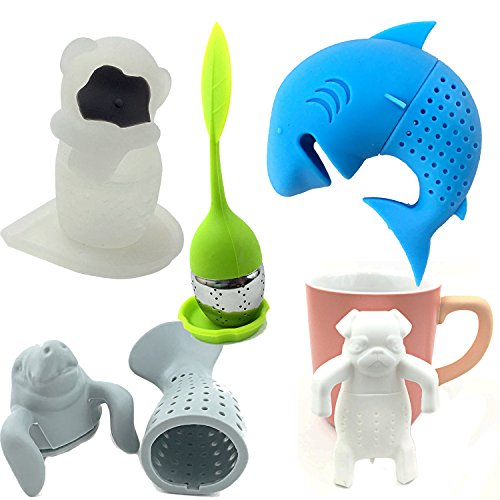 Zoo Infuser Animals by Hoot Tea - Tea Set For Fun Family Brewing Includes a