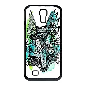 Diy Cute Fox Custom Cover Phone Case for samsung galaxy s4 Black Shell Phone [Pattern-3]