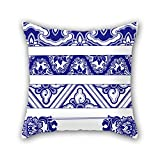 NICEPLW 18 x 18 inches / 45 by 45 cm Chinese style Blue and white porcelain throw cushion covers ,twice sides ornament and gift to gril friend,car seat,boy friend,her,car,family