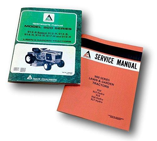 914 916H 917H Tractors Service Operators Repair Manual Set (All Is Chalmers Service Manuals)